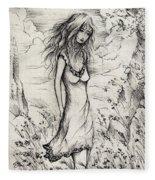 Walk In The Whispers Fleece Blanket