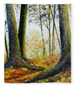 Walk In The Woods Fleece Blanket
