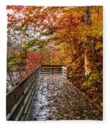 Walk Into Autumn Fleece Blanket