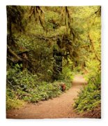 Walk Into The Forest Fleece Blanket