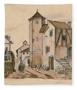 Walk Through Town Classic Fleece Blanket