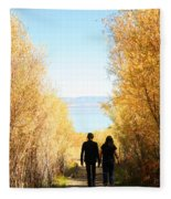Walk To Mono Lake Fleece Blanket