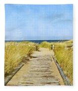 Walk To The Beach Fleece Blanket