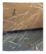 Walkin In A Spider Web Fleece Blanket