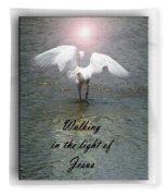 Walking In The Light Of Jesus Fleece Blanket