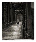 Walking In The Rain Fleece Blanket
