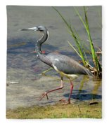 Walking On The Edge Fleece Blanket