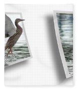 Walking On Water - Gently Cross Your Eyes And Focus On The Middle Image Fleece Blanket