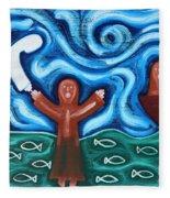 Walking On Water 2 Fleece Blanket