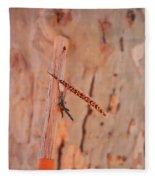 Walking Stick And Pheasant Feather Fleece Blanket