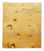Walking The Dog Fleece Blanket
