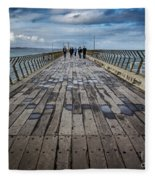 Walking The Pier Fleece Blanket