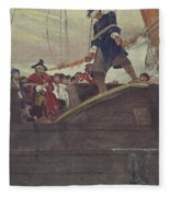 Walking The Plank Fleece Blanket