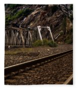 Walking The Tracks Fleece Blanket
