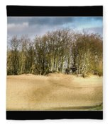 Walking To The Trees Fleece Blanket