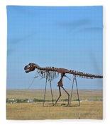 Walking Your T-rex Fleece Blanket