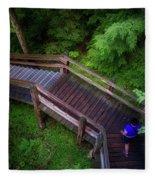 Walkway Tahquamenon Lower Falls Upper Peninsula Michigan Fleece Blanket