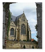 Walkway To Thorn Cathedral Fleece Blanket