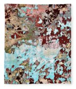 Wall Abstract 128 Fleece Blanket