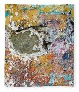 Wall Abstract 196 Fleece Blanket