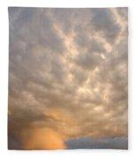 Wall Cloud Fleece Blanket