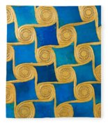 Wall Decoration From The Temple Of Amun At Malqata Fleece Blanket