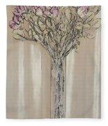Wall Flower Decoration Fleece Blanket