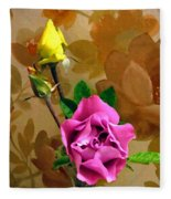 Wall Flowers Fleece Blanket