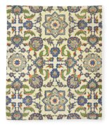 Wall Tiles Of Qasr Rodouan Fleece Blanket
