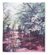 Wall's Bridge Reflections Fleece Blanket