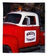 Wallys Service Truck Fleece Blanket
