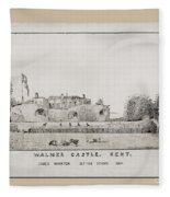 Walmer Castle Kent Fleece Blanket