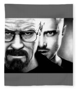 Walt And Jesse Fleece Blanket