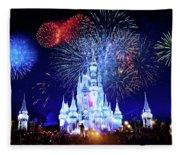 Walt Disney World Fireworks  Fleece Blanket