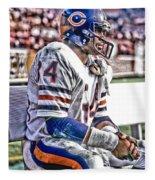 Walter Payton Chicago Bears Art 2 Fleece Blanket