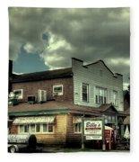 Walt's Diner - Vintage Postcard Fleece Blanket