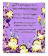 Waltz Of The Flowers Dancing Iris Fleece Blanket
