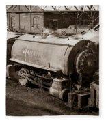 Wanamie Pennsylvania Coal Mine Locomotive Lokey 1969... Fleece Blanket