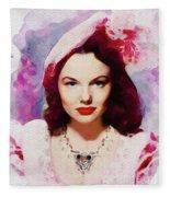 Wanda Hendrix, Vintage Movie Star Fleece Blanket