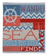 Wander Down By The Sea Fleece Blanket