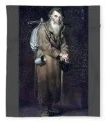 Wanderer H 1870 88h54 Am Gtg Vasily Perov Fleece Blanket