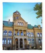 Wapakoneta Ohio Court House Fleece Blanket