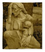 War Mother By Charles Umlauf Fleece Blanket