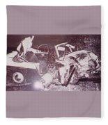Warhol - Disaster Retrospective Series Andy Warhol Fleece Blanket