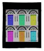 Warhol's Doors Fleece Blanket