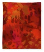 Warm Abstract 1 Fleece Blanket