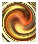 Warm Honey Swirl Fleece Blanket