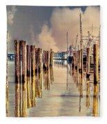 Warm Reflections In The Marina Fleece Blanket