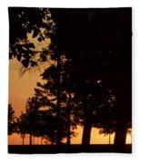 Warm Sunrise Fleece Blanket
