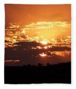 Warm Sunset Fleece Blanket